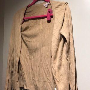 Sweaters - Gold/tan cardigan